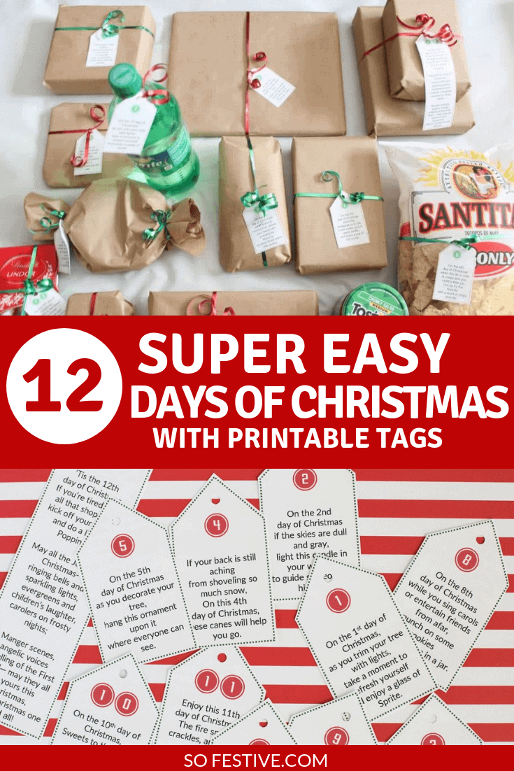 12 days of christmas tags idea - How Many Gifts In 12 Days Of Christmas