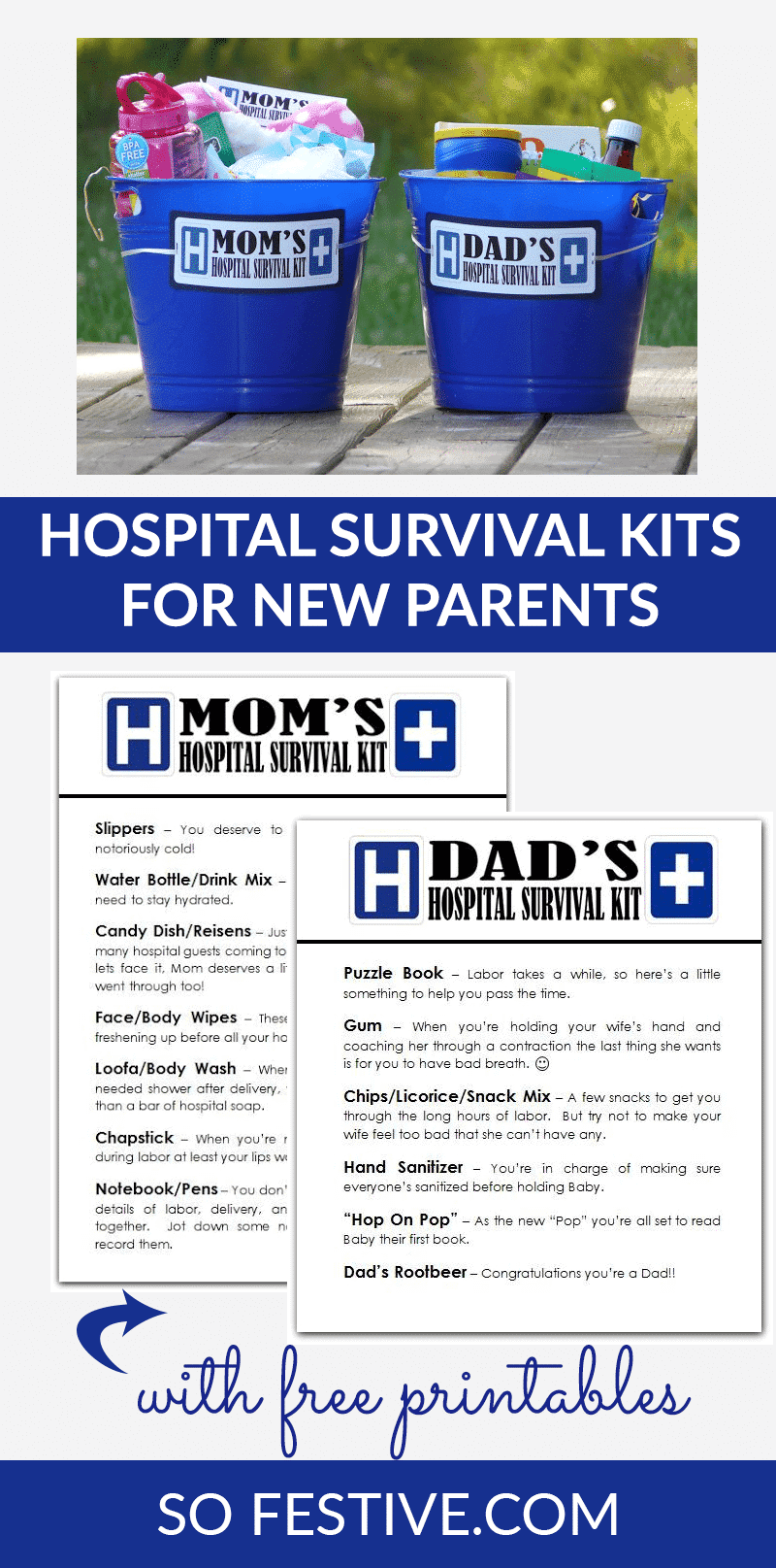 Hospital Survival Kits Gifts For New Moms And Dads So