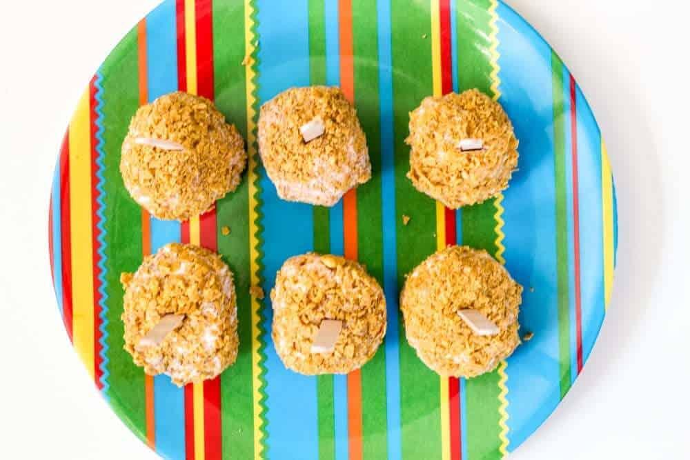 Cinco de Mayo desserts idea- Healthy Fried Ice Cream on a Stick