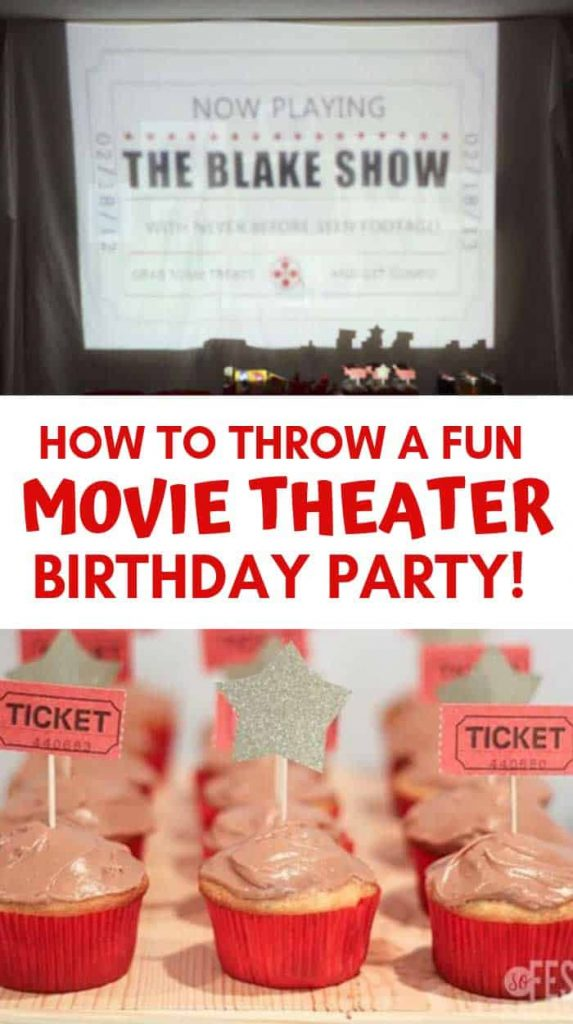 How To Plan A Movie Theater Birthday Party So Festive