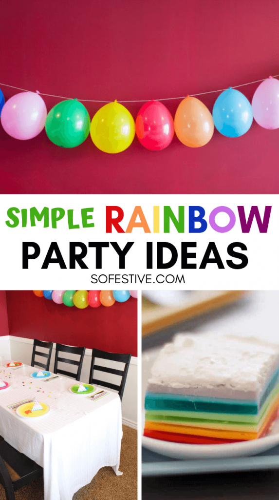 Rainbow party Ideas- Color Party