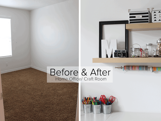 before and after home office craft room31 craft