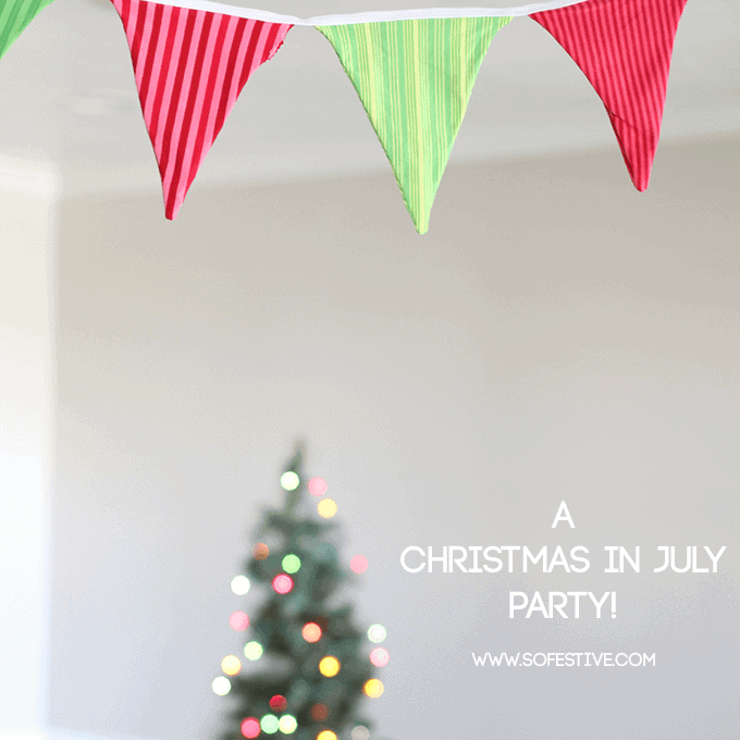 A christmas in july party so festive for Christmas in july party ideas