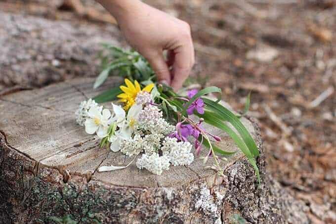 wild flower floral crown