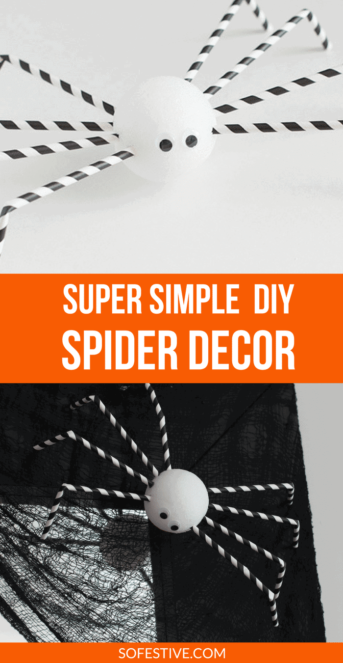 Simple Halloween Decoration Ideas- DIY Spider Crafts