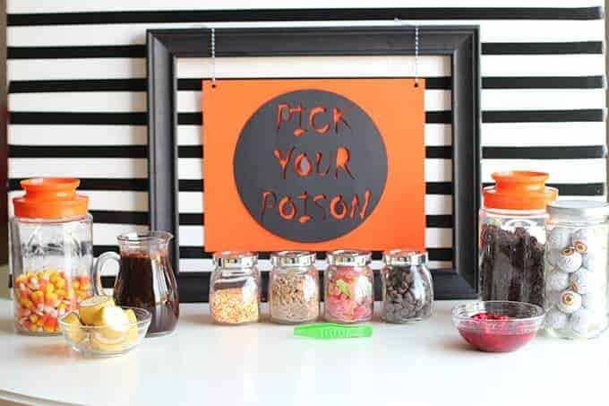 Halloween Dessert Idea- Ice Cream with Spooky Toppings