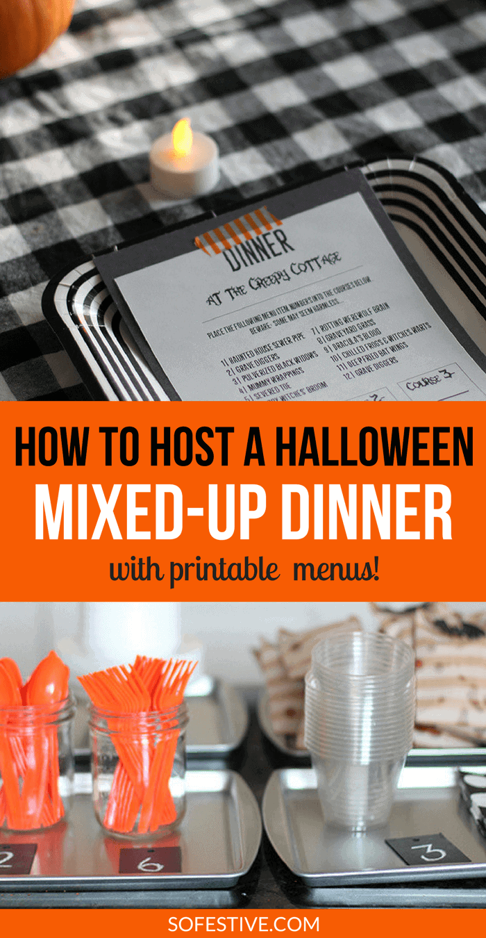 How to Host a Halloween Mixed-Up Dinner- Halloween Dinner Party Idea- Halloween Party Food Ideas