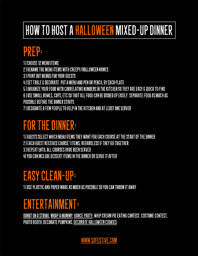 How to Host a Halloween Mixed Up Dinner