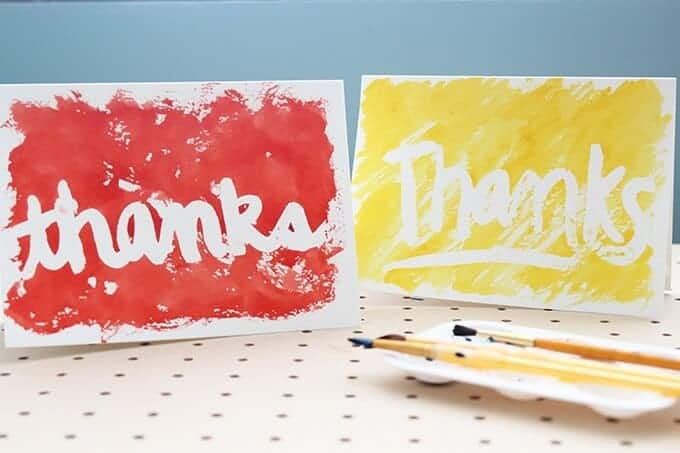 Diy Thank You Watercolor Cards So Festive