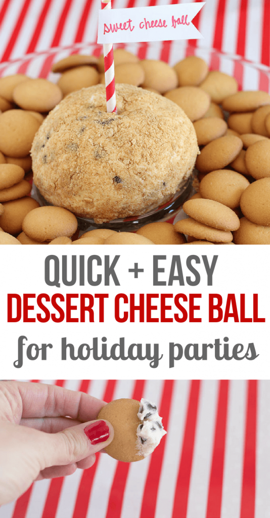 Quick and Easy Dessert Cheese Ball- Christmas Recipes- Sweet -Cheese -Ball -recipe