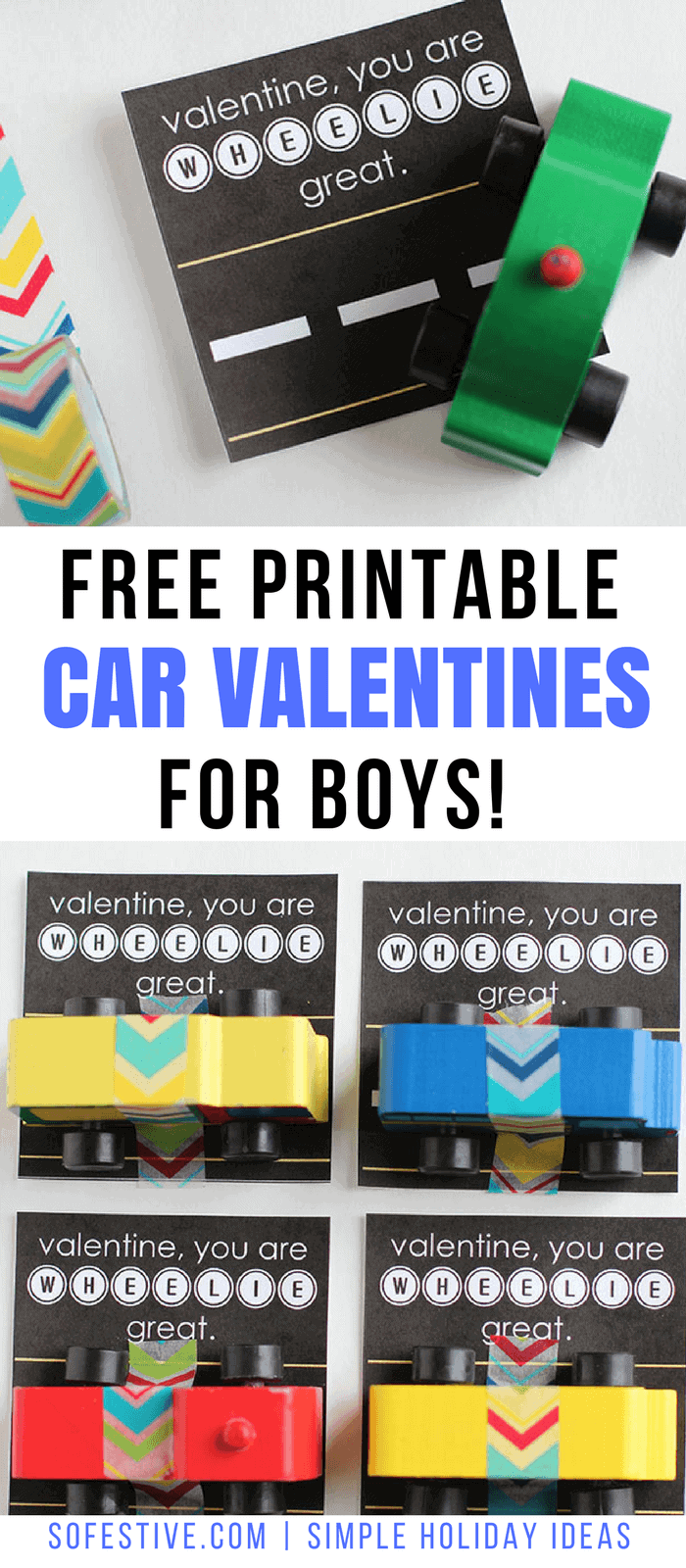 Free Printable Car- Valentines- for- Boys