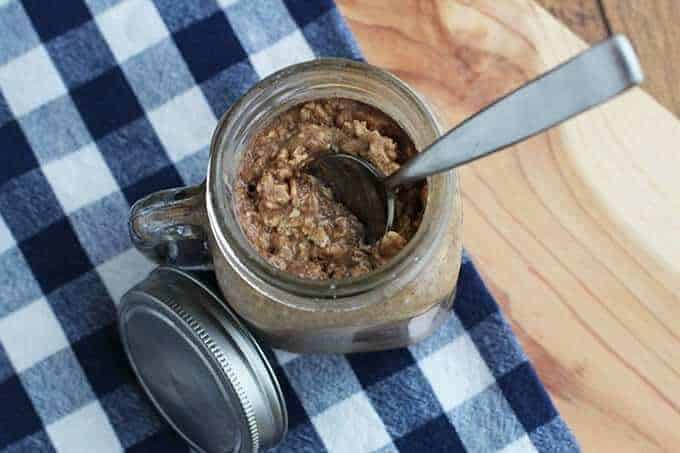 Peanut Butter Banana Overnight Oatmeal Recipe - So Festive!