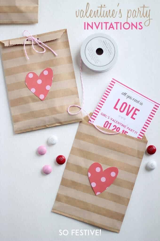 Valentine\'s Party Printable Invitations - So Festive!