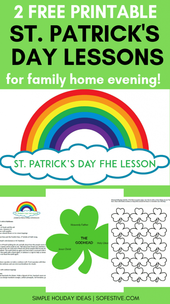 St Patricks Day Family Home Lessons