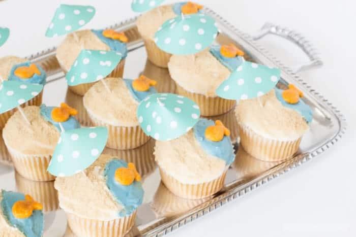 Beach Cupcakes Tutorial