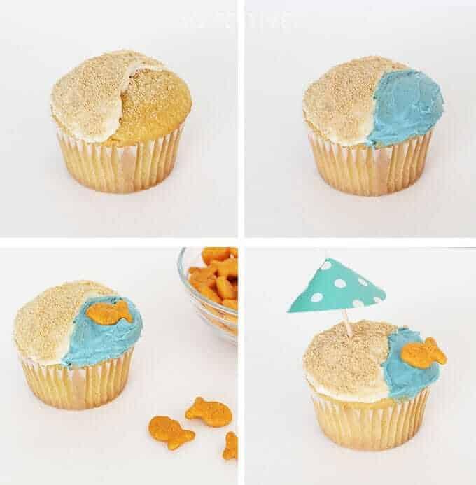 Decorate-beach-cupcakes