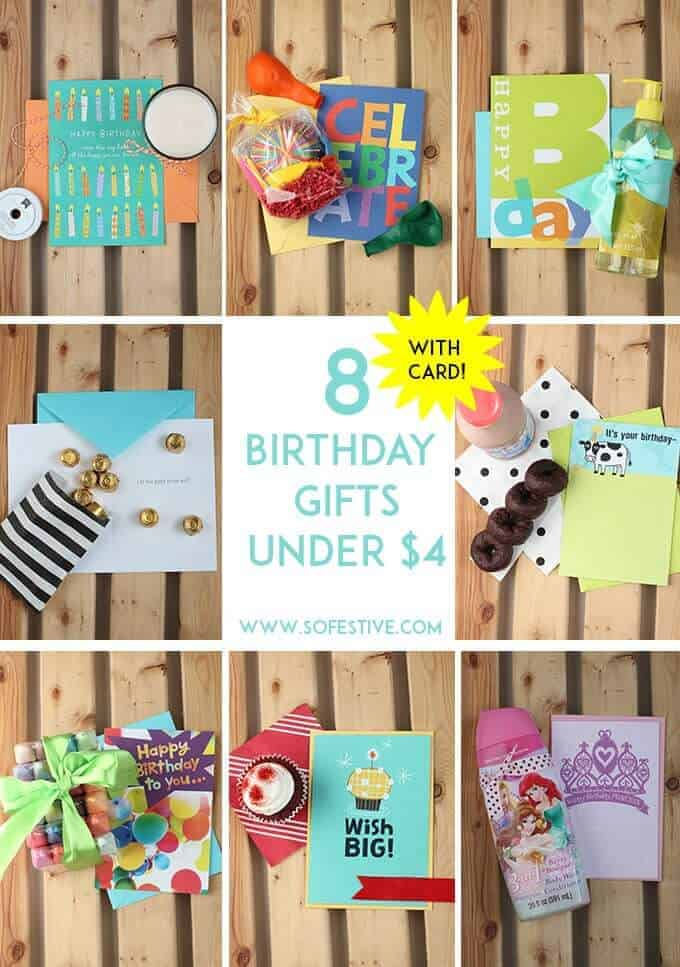 8 Birthday Gifts under $4! - So Festive!