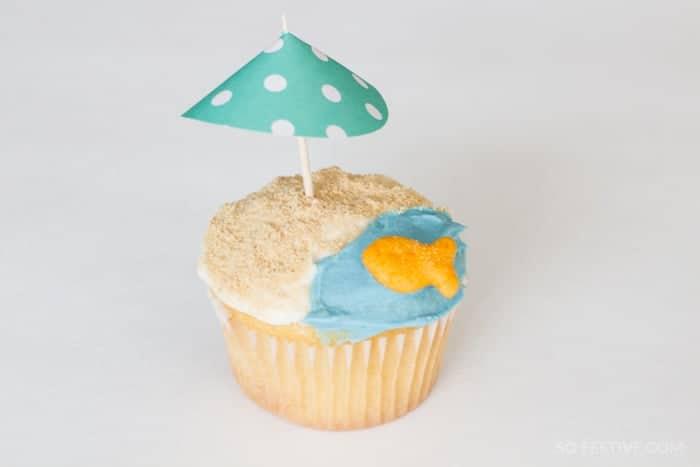 beach cupcake- summer treats