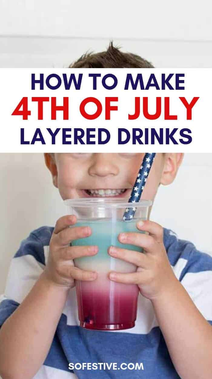 How To Make 4th of July Layered Drinks For Kids