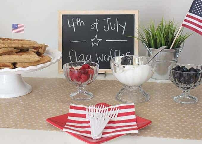 fourth-of-july-flag-waffle-bar