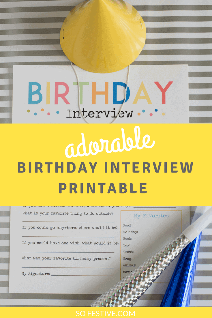 the most adorable birthday interview printable