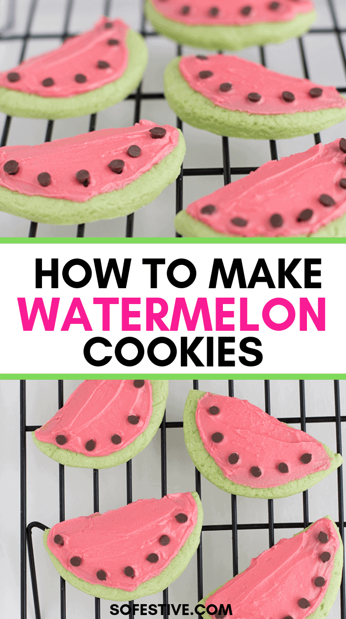 Adorable Watermelon Cookies for Summer