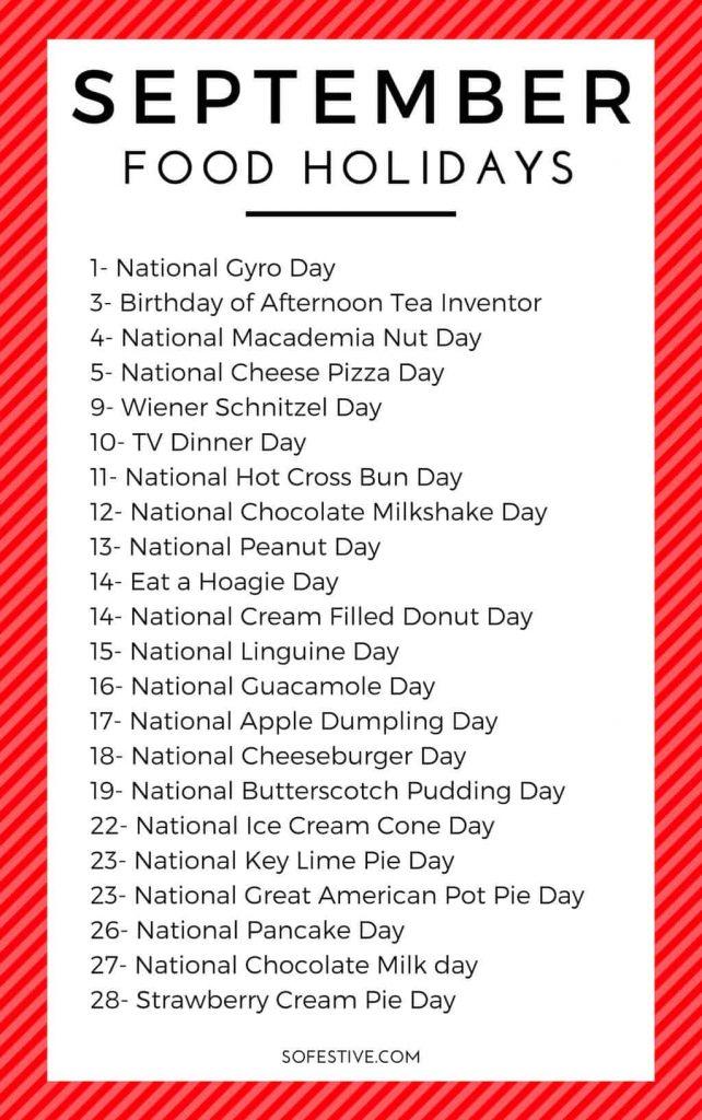 September Holiday List- Random September Holidays