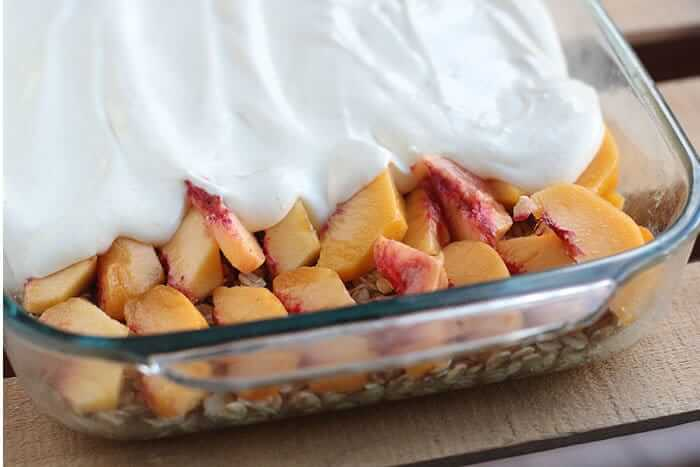 fresh-peach-no-bake-dessert
