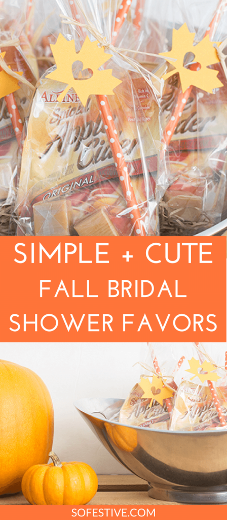 """Fallen In Love"" Fall Bridal Shower Favors - So Festive!"