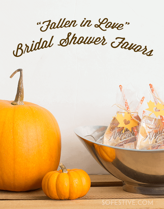15 minute fall bridal shower party favors from sofestivecom