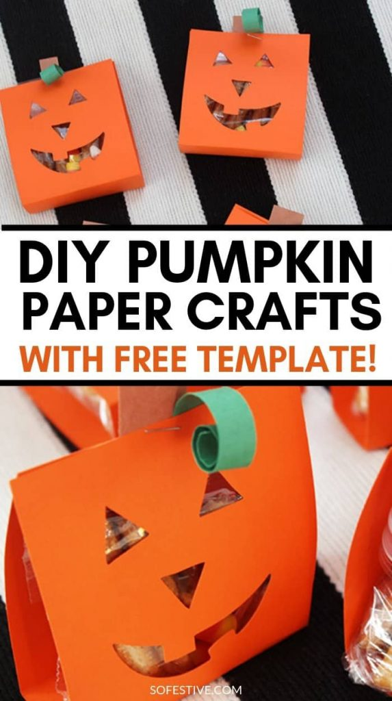 pumpkin paper craft-halloween party favotr