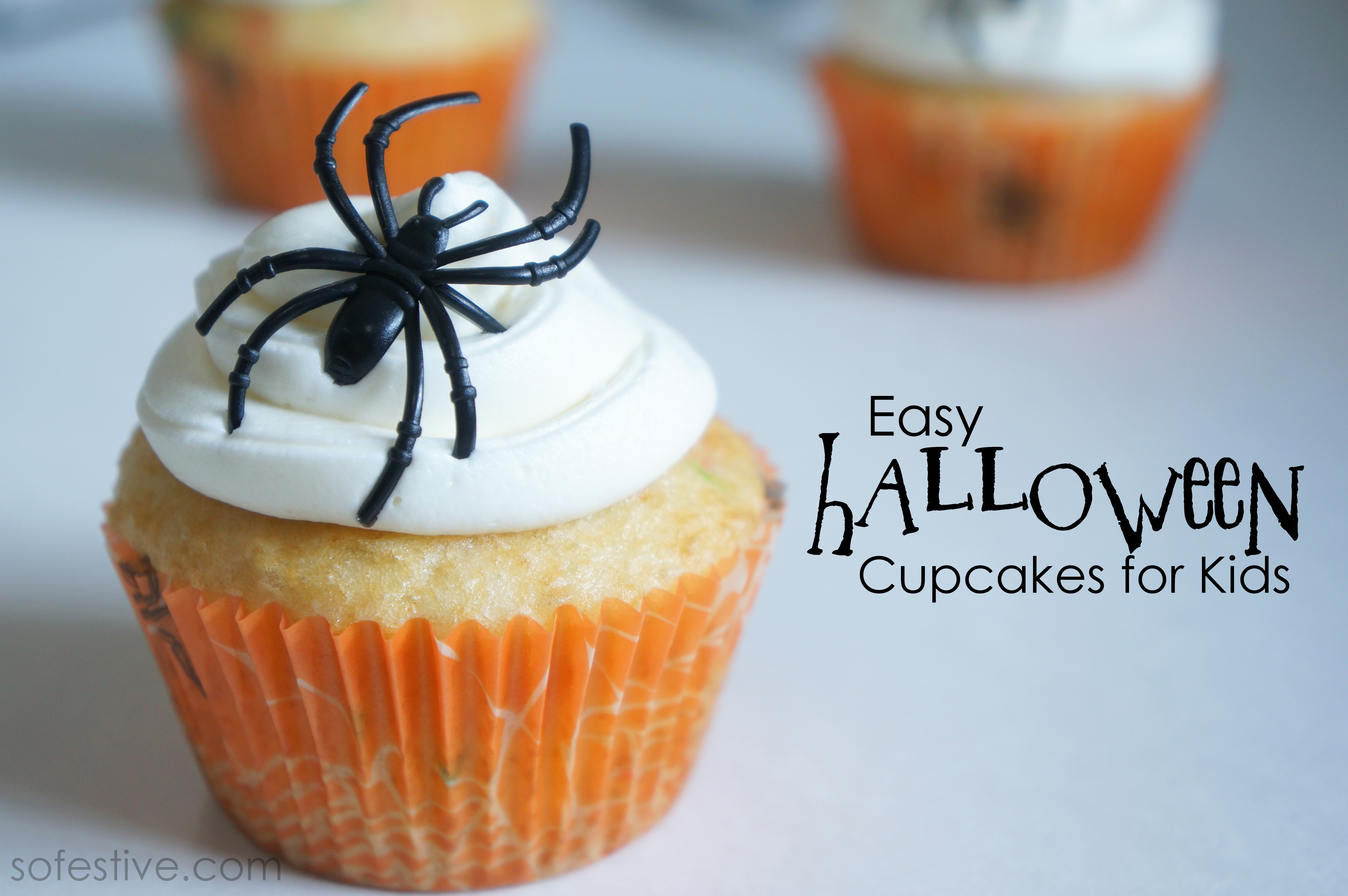 Easy Halloween Cupcakes for Kids