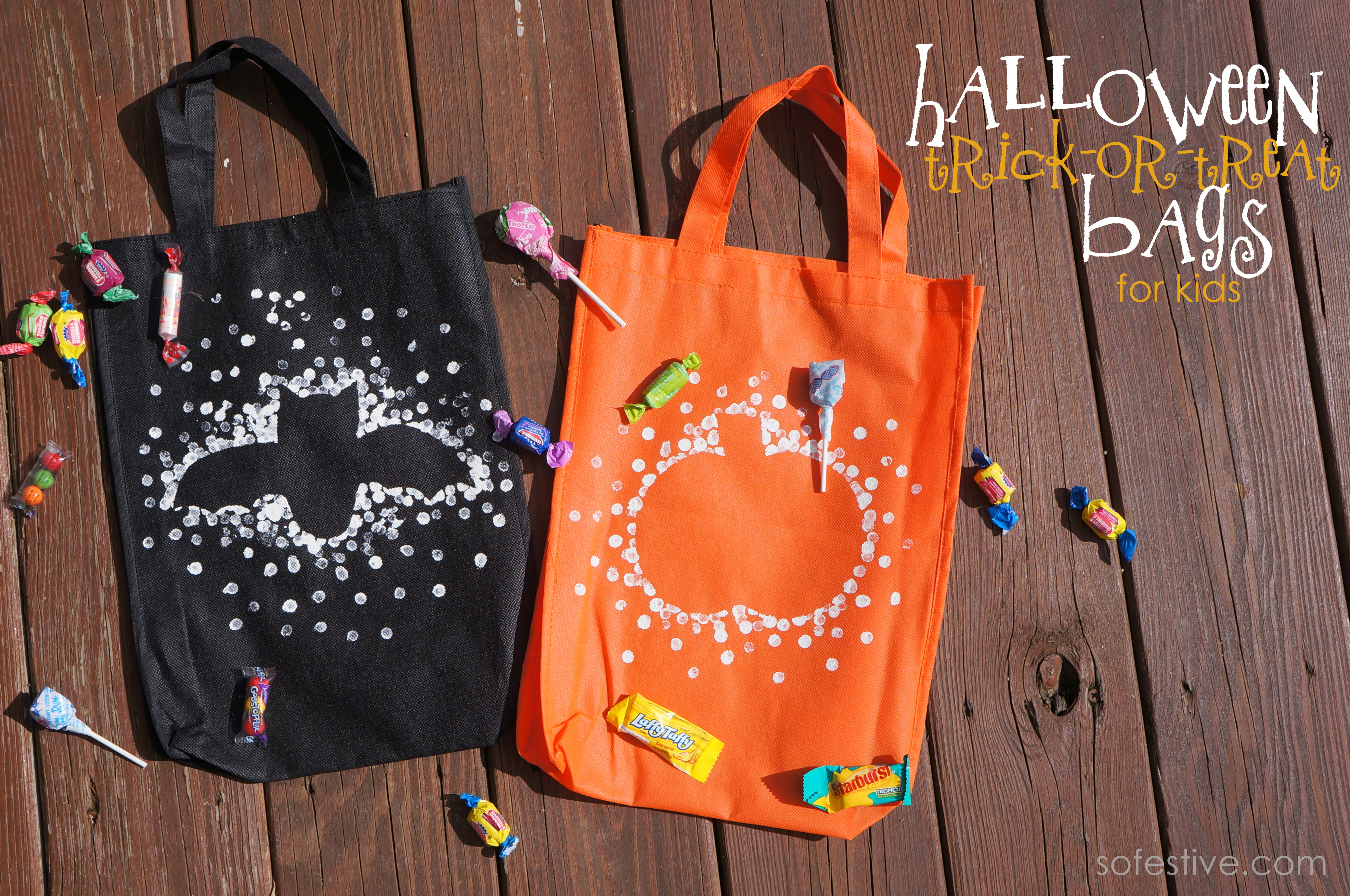 Halloween Trick-or-Treat Bags For Kids