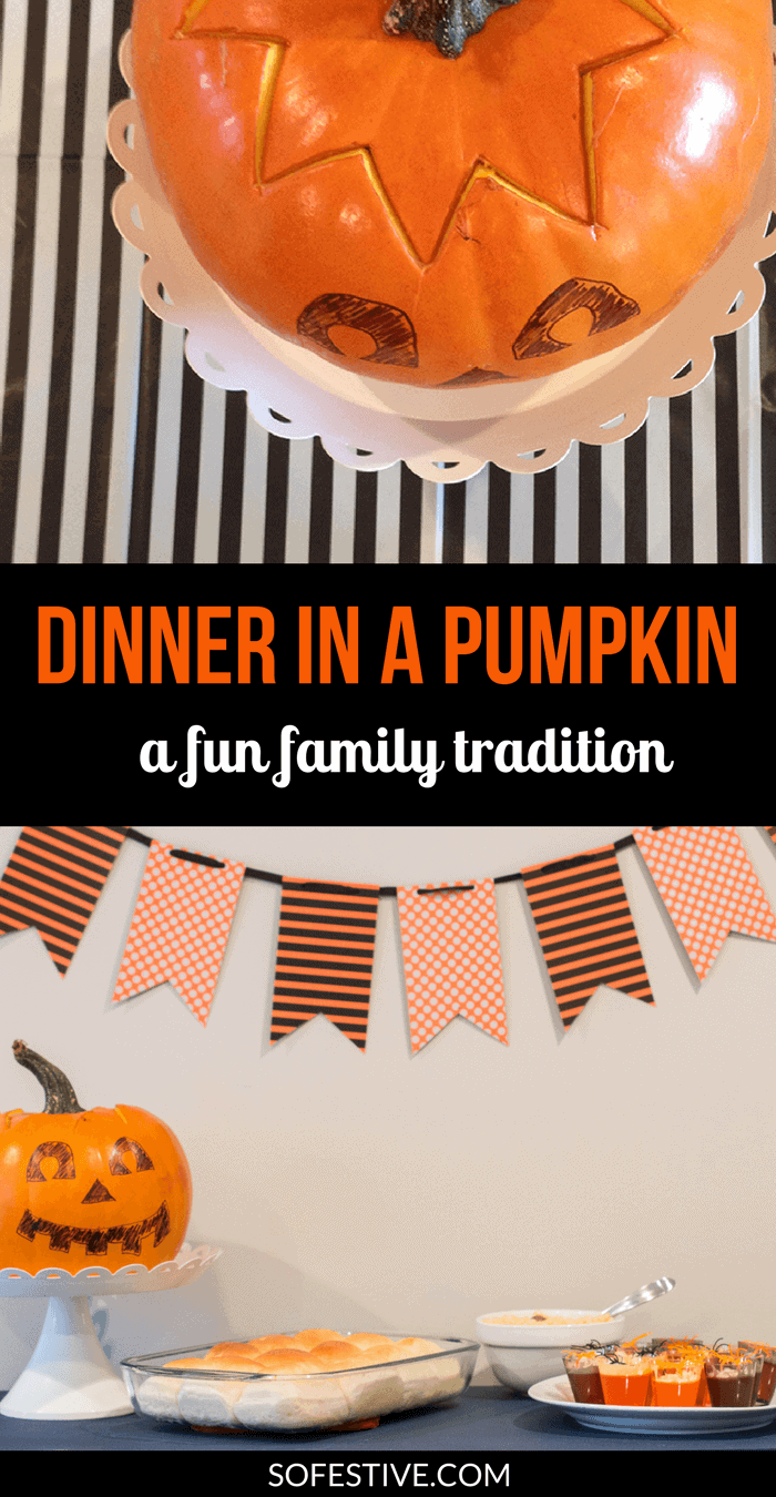 How to Make Dinner in a Pumpkin- Halloween Tradition- Family Halloween Tradition- Halloween Dinner Idea