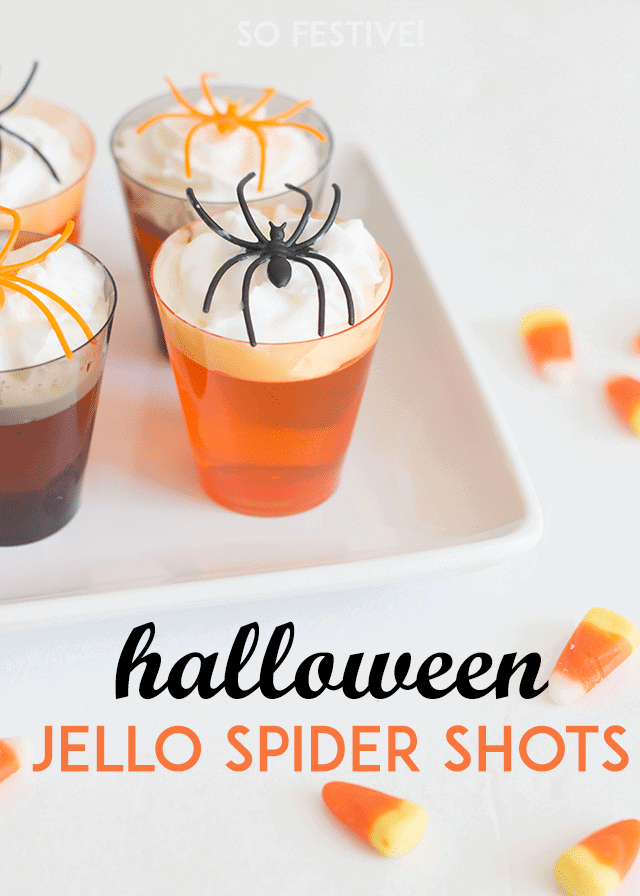 Easy Halloween Spider Jello Shots