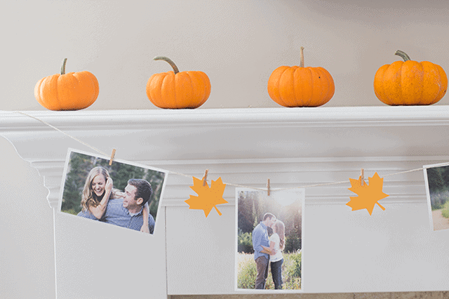 fall-mantle-decorations-for-a-bridal-shower