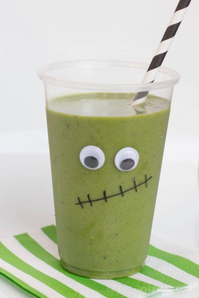 frankenstein floats-halloween-green-smoothies