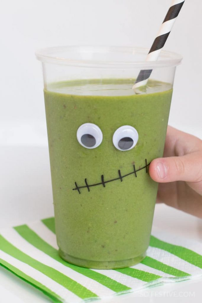 frankenstein floats-halloween-green-smoothies