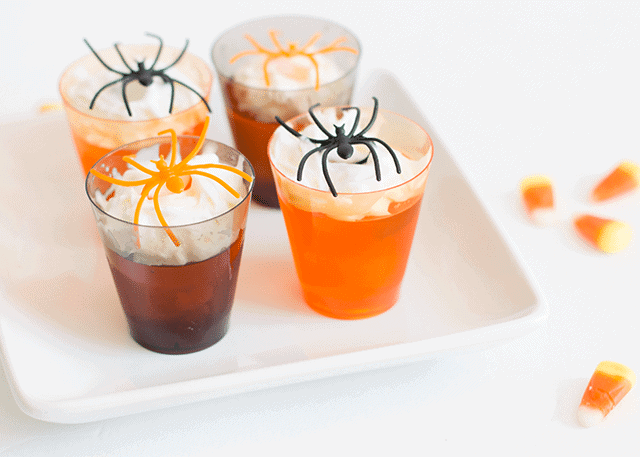 5-Minute Halloween Jello Spider Shots - So Festive!