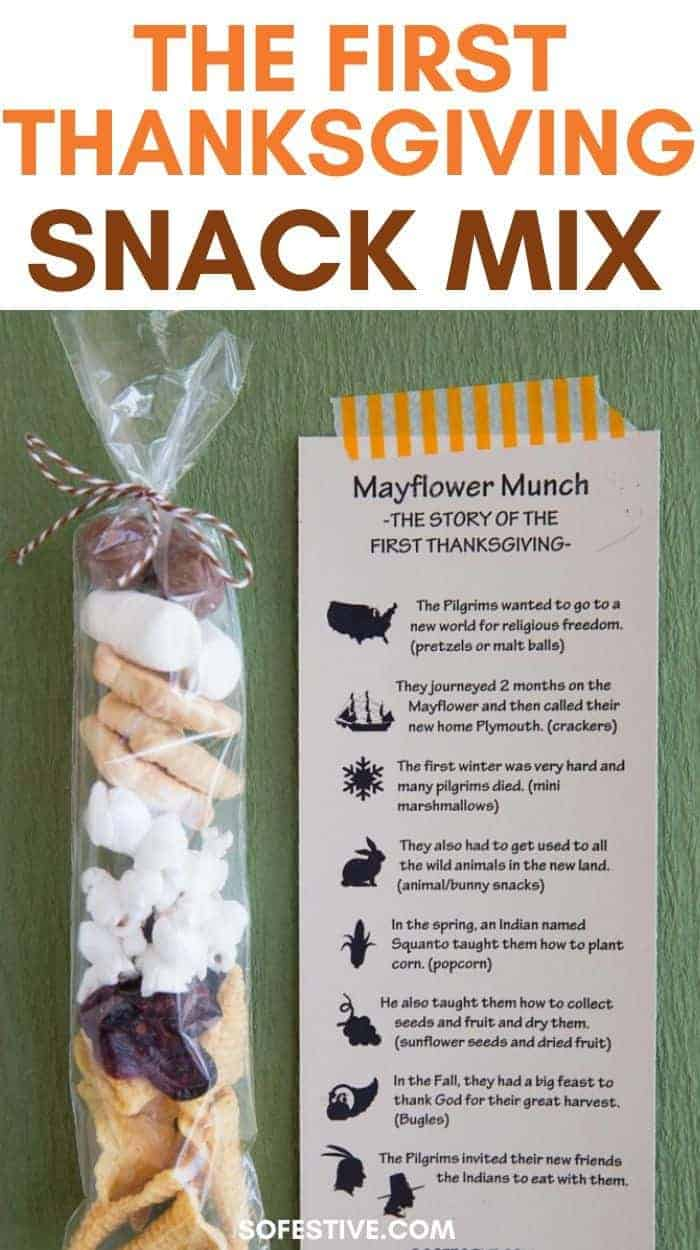 First Thanksgiving Snack Mix- Mayflower Munch