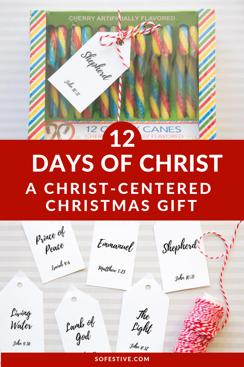 12 days of christ christmas gift idea