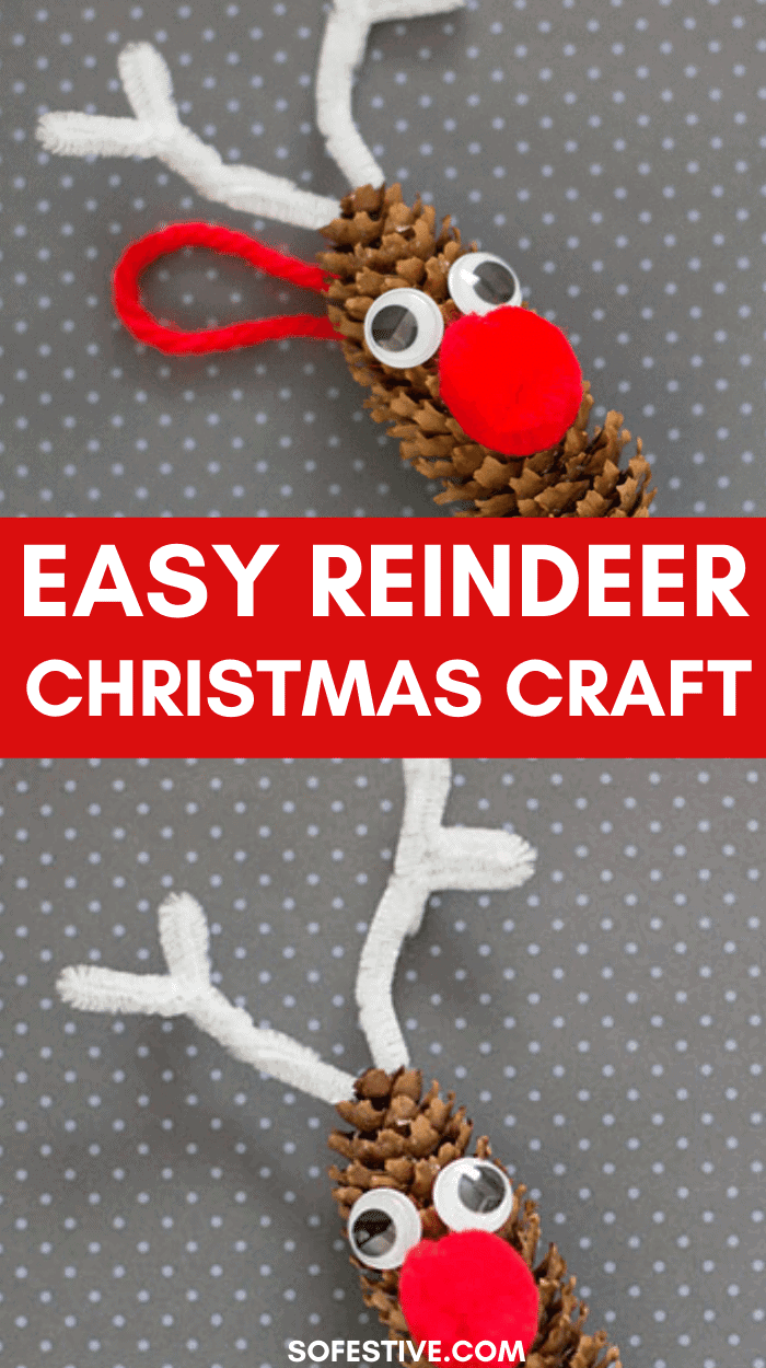 Easy Reindeer Christmas Craft