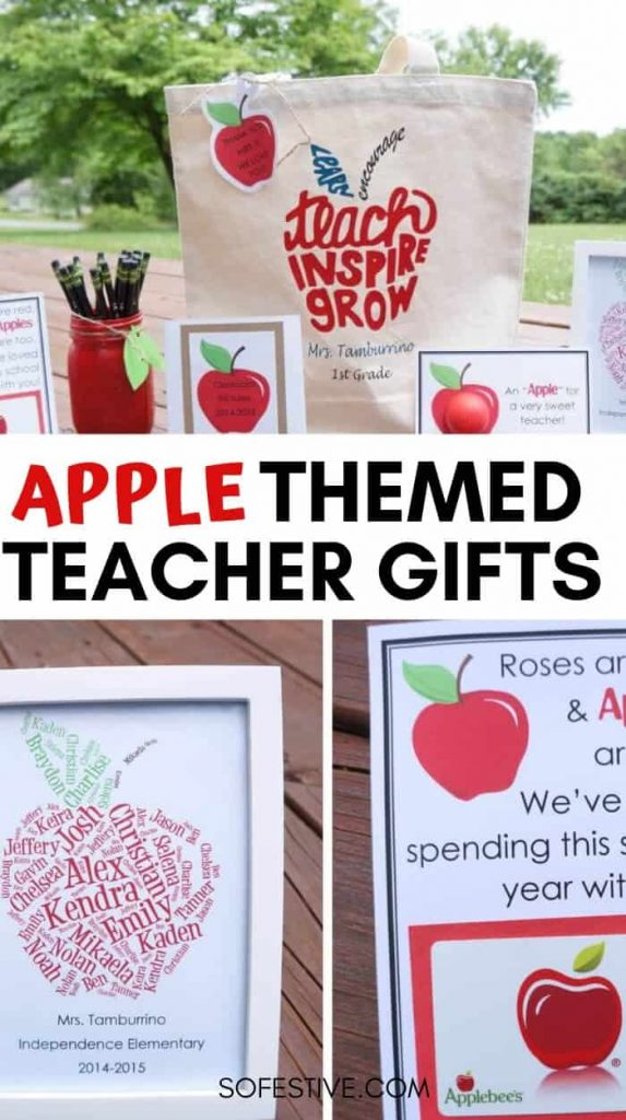 Creative Apple Themed Teacher Appreciation Gift Ideas