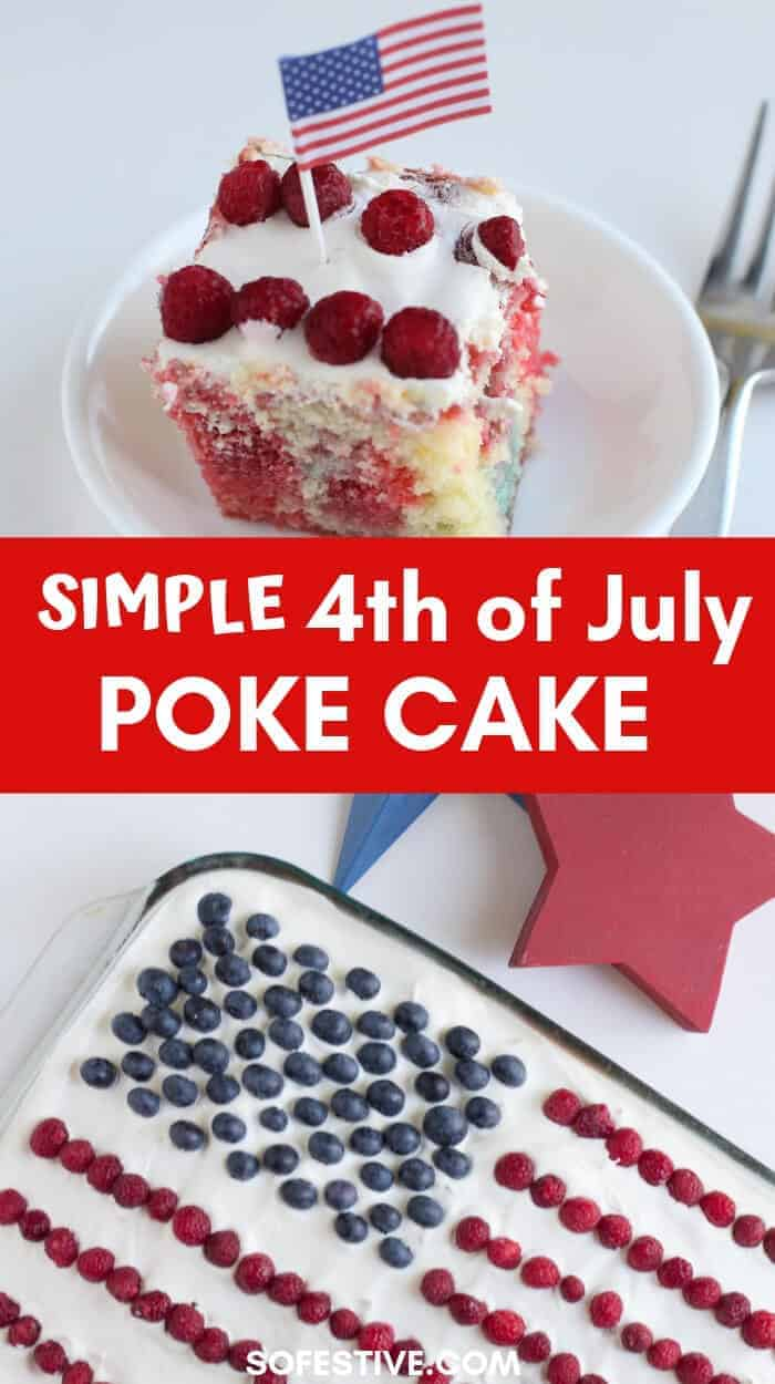 How to make a 4th of July Poke Cake- Jello Cake-Patriotic dessert