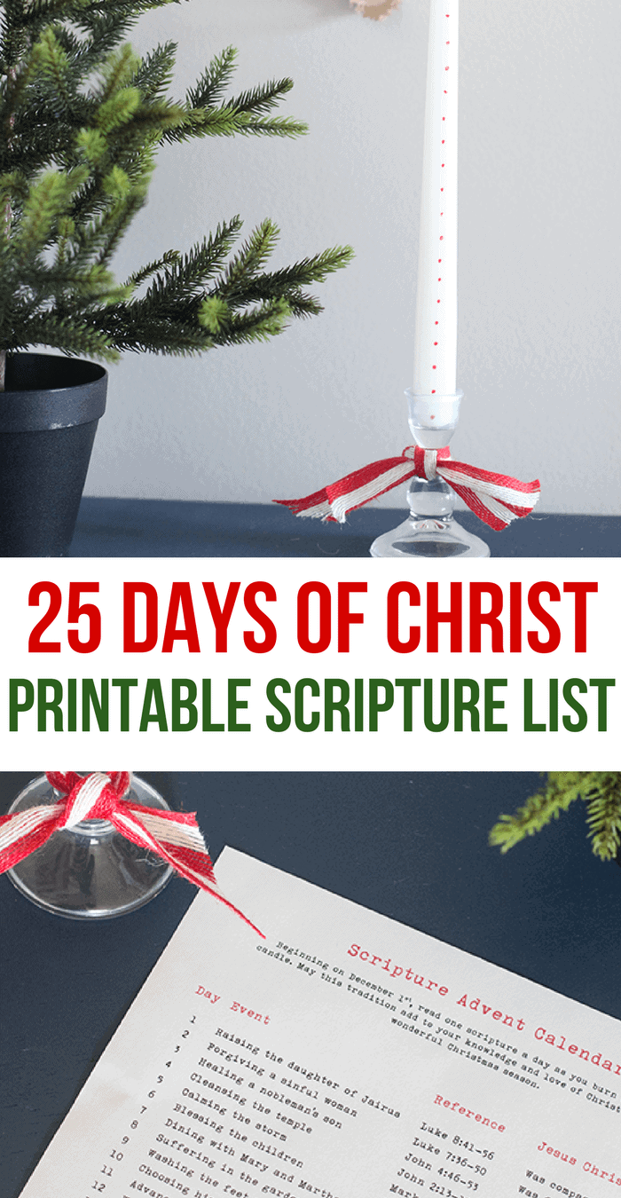 25 Days of Christ- Scripture Advent Calendar- Keep Christ in Christmas- Christ-Centered Christmas Traditions
