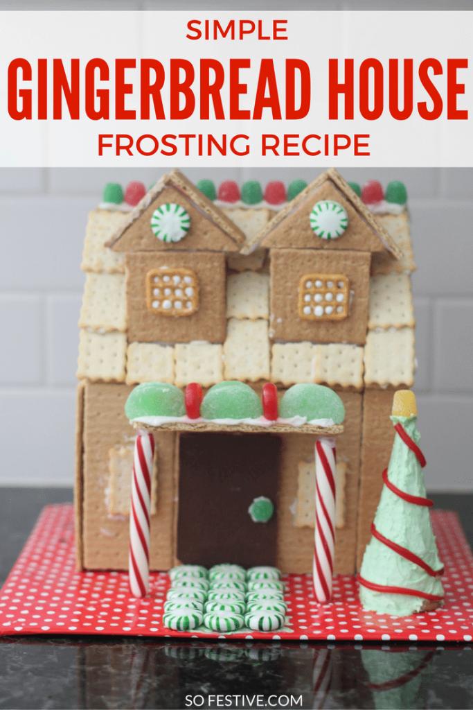 simple homemade gingerbread house frosting recipe so festive. Black Bedroom Furniture Sets. Home Design Ideas