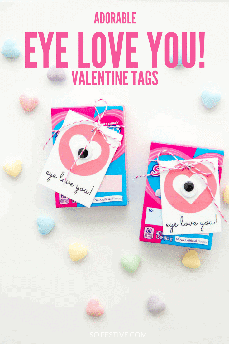 Eye Love You Printable Valentine's Day tags