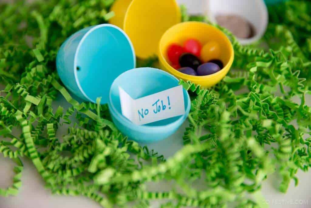 a color coded easter egg hunt so festive