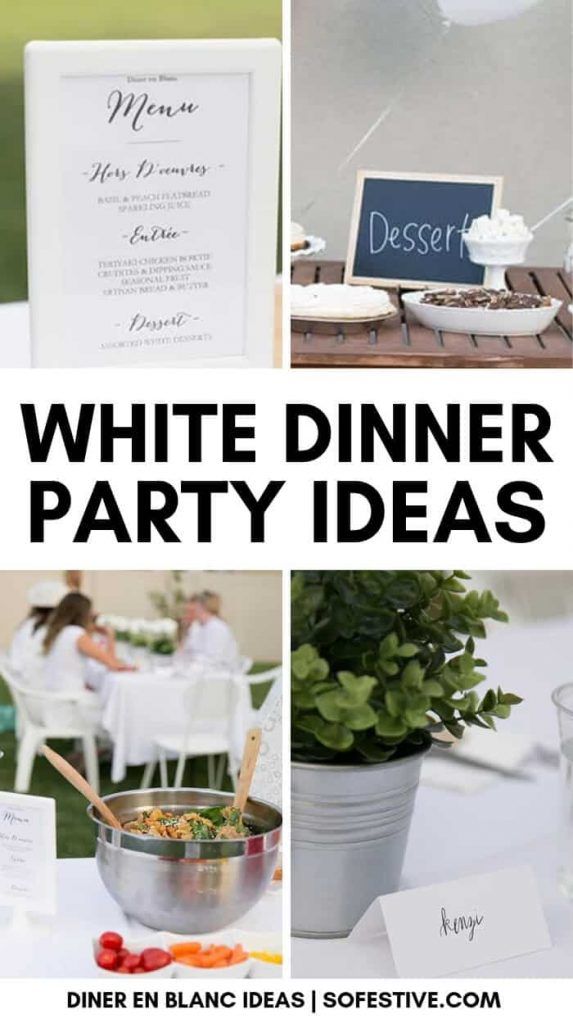 How to have a diner en blanc- all-white dinner food and decoration ideas