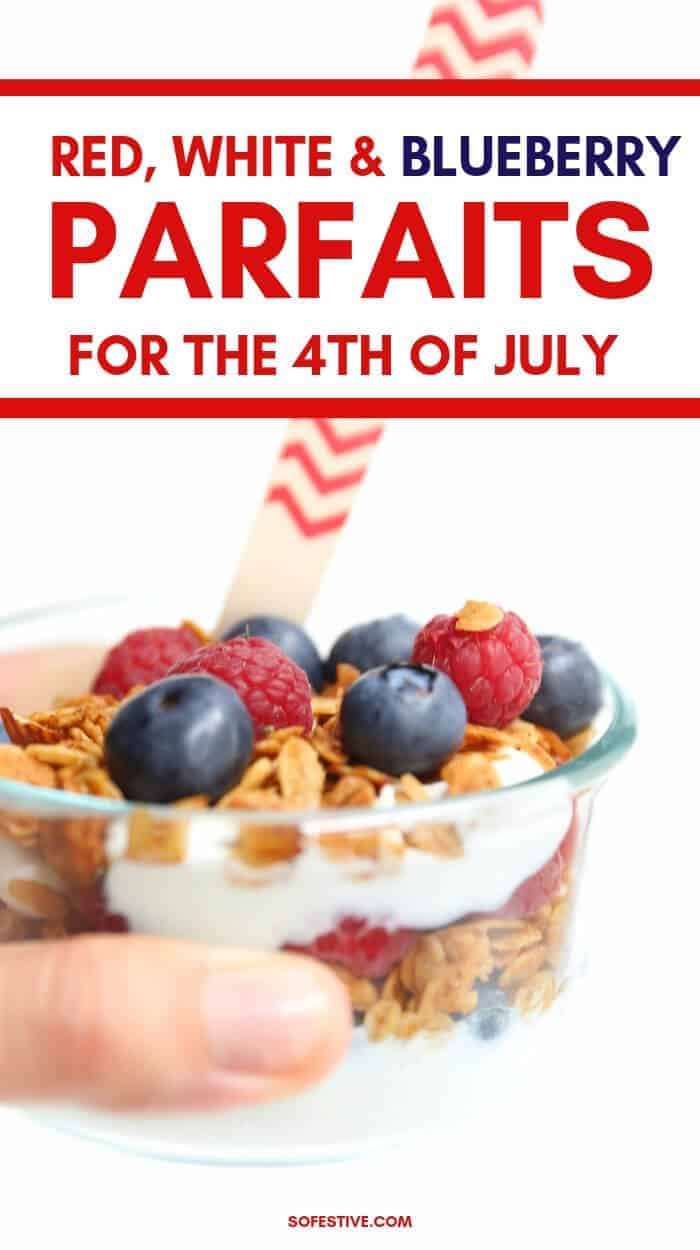 4th of July Breakfast- Patriotic Fruit Parfaits-